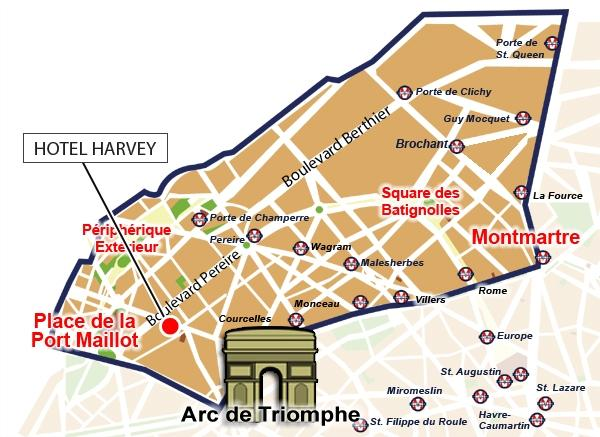 Location harvey hotel paris - Paris porte maillot beauvais airport ...