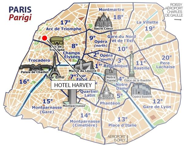 Location harvey hotel paris - Porte maillot arrondissement ...
